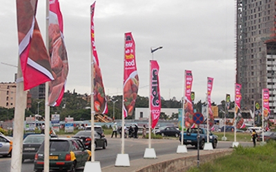 Street Flags for Brand Activation